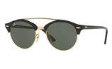 Ray-Ban CLUBROUND DOUBLE BRIDGE RB4346 - 901 Sunglasses